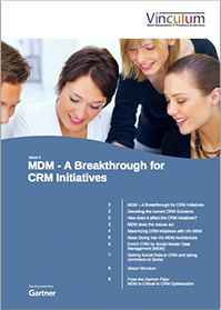 MDM – A Breakthrough for CRM Initiatives