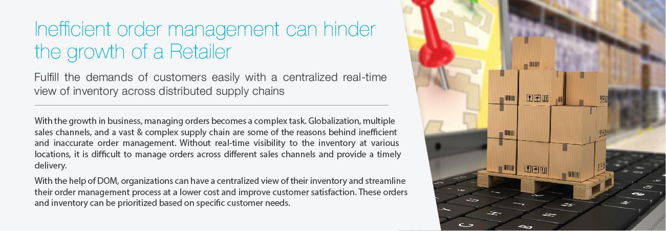 Inefficient Order management Retailers
